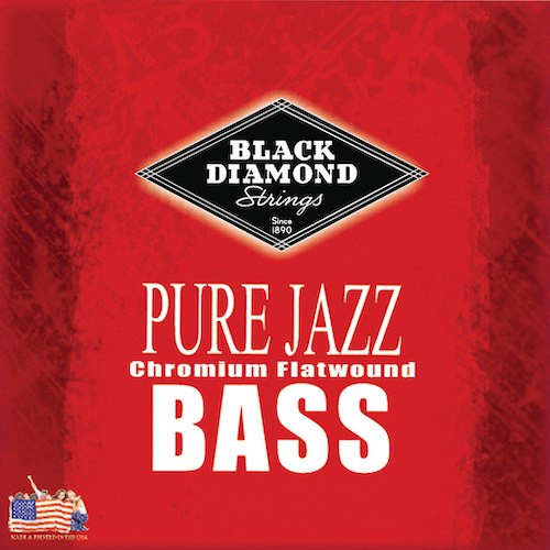 Black Diamond Pure Jazz Flatwound Bass Guitar Strings 45-100