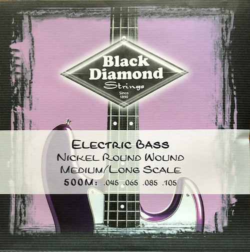 Black Diamond Nickel Round Bass Guitar Strings