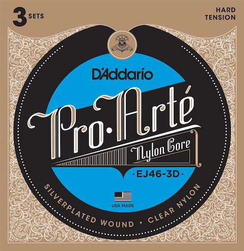 D'Addario Pro Arte Nylon Core Classical Guitar Strings - 3-Pack; hard tension