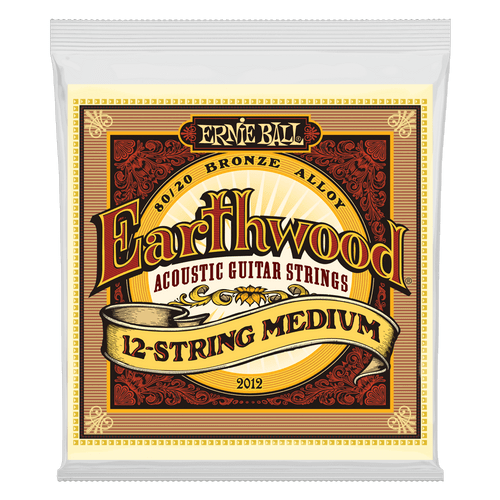 Ernie Ball Earthwood 80/20 Bronze Acoustic Guitar strings; 12-string set 11-52