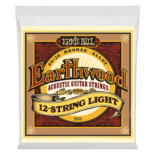 Ernie Ball Earthwood 80/20 Bronze Acoustic Guitar strings; 12-string set 9-46