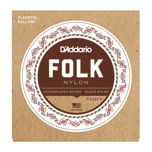 D'Addario Folk Nylon Ball End Guitar Strings
