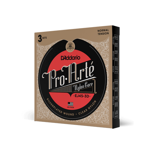 D'Addario Pro Arte Nylon Core Classical Guitar Strings - 3-Pack; normal tension