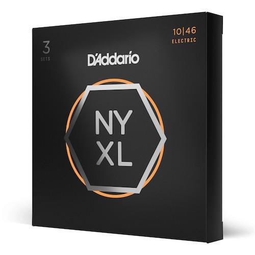 D'Addario NYXL Electric Guitar Strings 10-46; 3-PACK