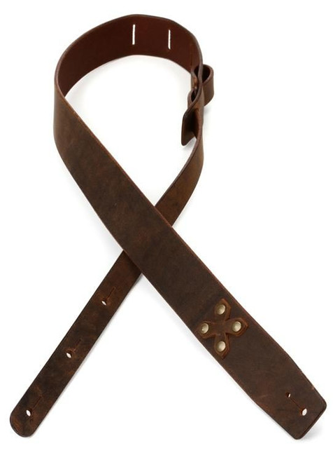 LM Vidar Distressed Viking Leather Guitar Strap