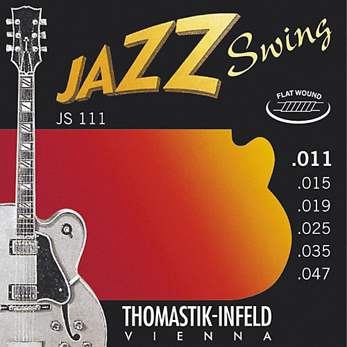 Thomastik-Infeld Jazz Swing Electric Guitar Strings flatwound; 11-47