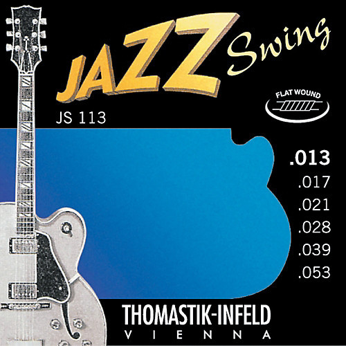 Thomastik-Infeld Jazz Swing Electric Guitar Strings flatwound; 13-53