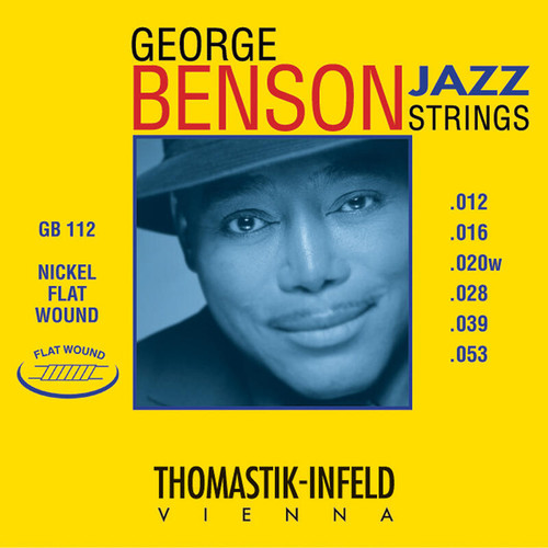 Thomastik-Infeld George Benson Nickel Flatwound Jazz Guitar Strings 12-53