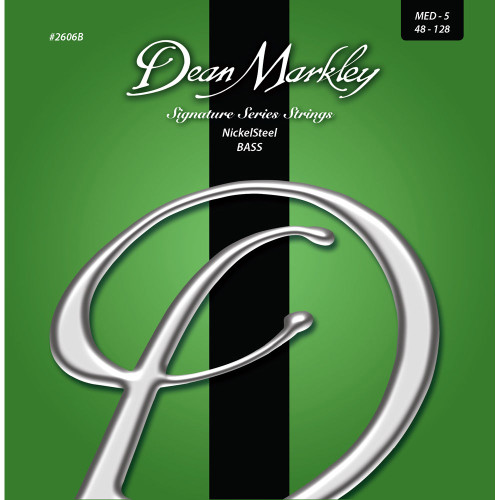 Dean Markley NickelSteel Bass Guitar Stings; 5-String 48-128