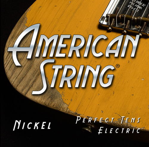 American String Pure Nickel Electric Guitar Strings -perfect 10s