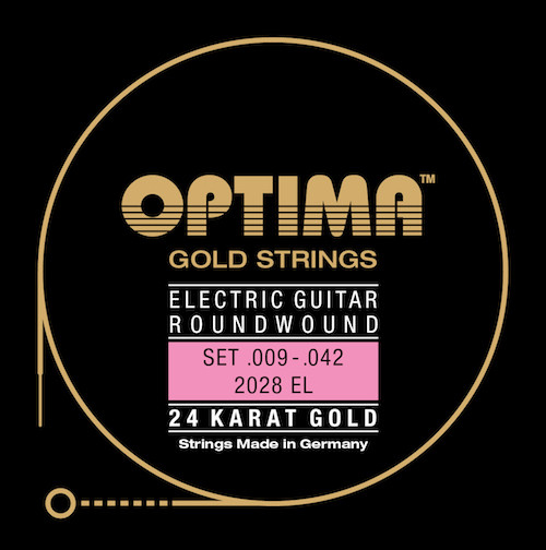 Optima 24K Gold Guitar Strings - Plain Singles