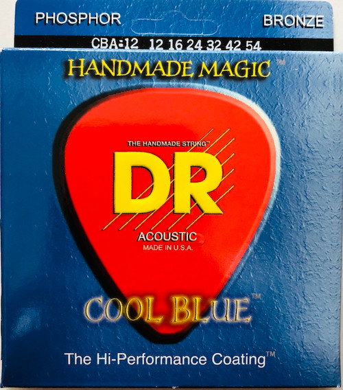 DR Cool Blues Acoustic Guitar Strings; 12-54