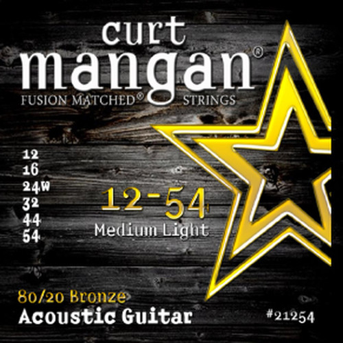 Curt Mangan 80/20 Bronze Acoustic Guitar Strings; 12-54