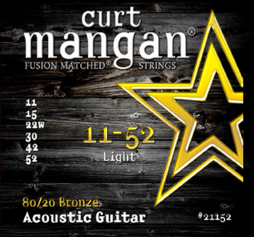 Curt Mangan 80/20 Bronze Acoustic Guitar Strings; 11-52