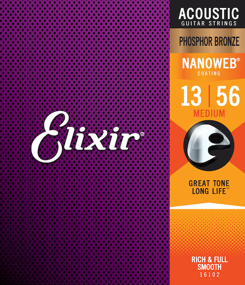 Elixir Phosphor Bronze Acoustic Guitar Strings ; 13-56