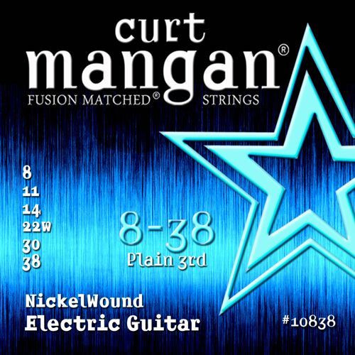 Curt Mangan Nickel-Plated Steel Electric Guitar Strings 8-38