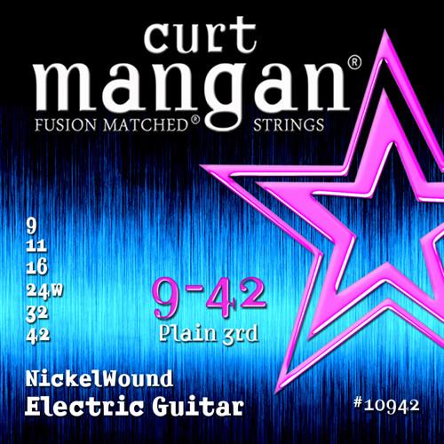 Curt Mangan Nickel-Plated Steel Electric Guitar Strings 9-42