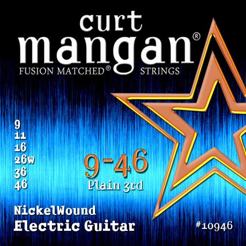 Curt Mangan Nickel-Plated Steel Electric Guitar Strings 9-46