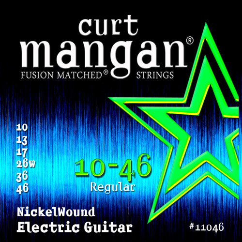 Curt Mangan Nickel-Plated Steel Electric Guitar Strings 10-46