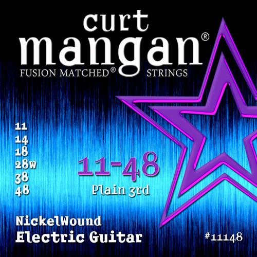 Curt Mangan Nickel-Plated Steel Electric Guitar Strings 11-48