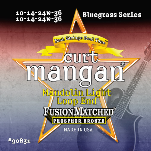 Curt Mangan Phosphor Bronze Loop End Mandolin Strings; 10-36