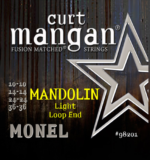 Curt Mangan Monel Mandolin Strings; Loop End 10-36