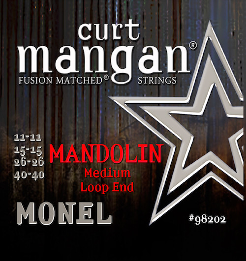 Curt Mangan Monel Mandolin Strings; Loop End 11-40