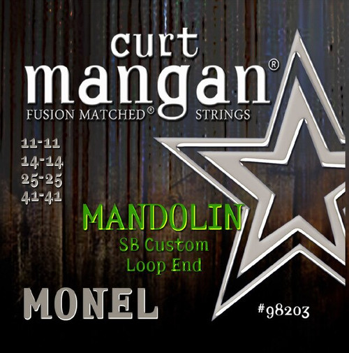 Curt Mangan Monel Mandolin Strings; Loop End 11-41