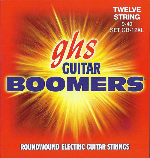 GHS Boomers Electric Guitar Strings; 12-String gauges 9-40