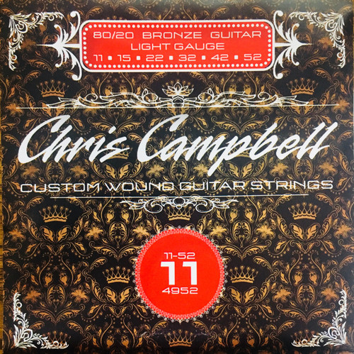 Chris Campbell 80/20 Bronze Acoustic Guitar Strings