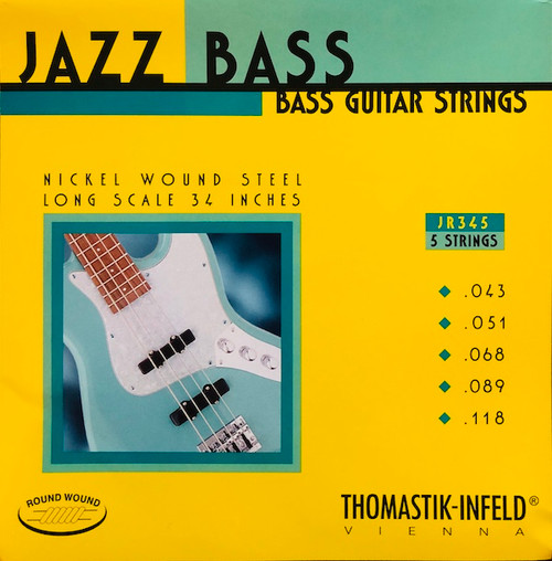 Thomastik Infeld Round Wound Jazz Bass Strings ; 43-118 (JR345)