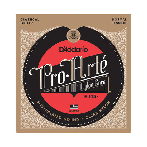 D'Addario Pro Arte Nylon Core Classical Guitar Strings; normal tension