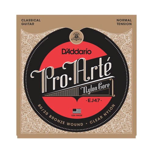 D'Addario 80/20 Bronze Pro-Arté Classical Guitar Strings; EJ47 normal tension
