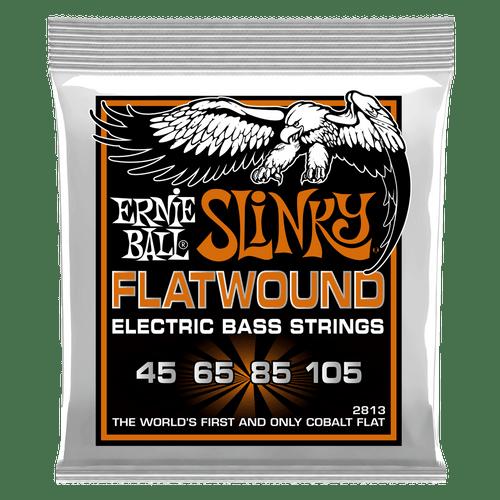 Ernie Ball Slinky FlatWound Electric Bass Strings; 45-105