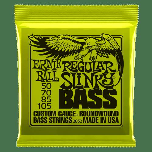 Ernie Ball Slinky Nickel Wound Bass Guitar Strings; 50-105