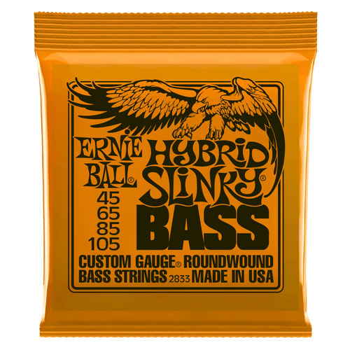 Ernie Ball Slinky Nickel Wound Bass Guitar Strings; 45-105