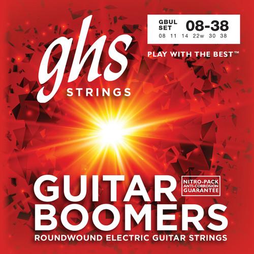 GHS Boomers Electric Guitar Strings gauges 8-38