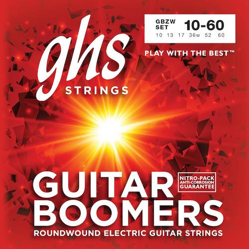 GHS Boomers Electric Guitar Strings gauges 10-60