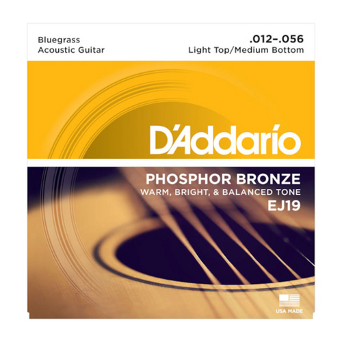 D'Addario Phosphor Bronze Acoustic Guitar Strings; 12-56