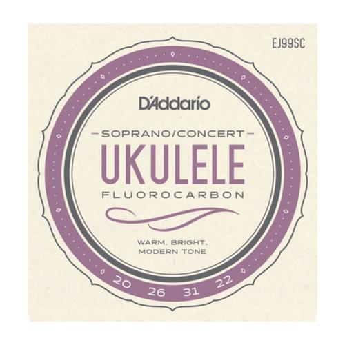 D'Addario EJ99SC Pro-Arté Carbon Ukulele, Soprano / Concert