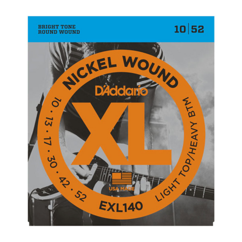 D'Addario XL Nickel Wound Electric Guitar Strings; 10-52