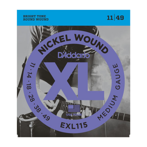 D'Addario XL Nickel Wound Electric Guitar Strings; 11-49