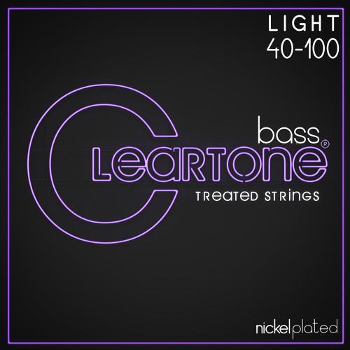 Cleartone Nickel Plated Steel Bass Guitar Strings;  40-100