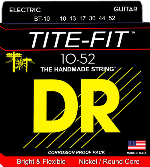DR Tite-Fit Electric Guitar Strings; 10-52