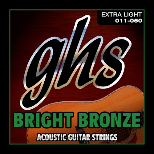 GHS Bright Bronze Acoustic Guitar Strings; 11-50