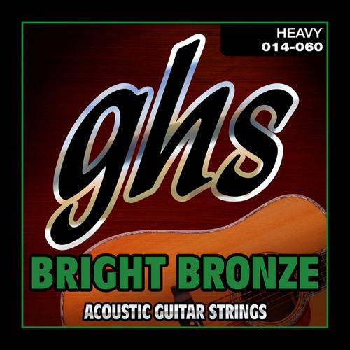 GHS Bright Bronze Acoustic Guitar Strings; 14-60
