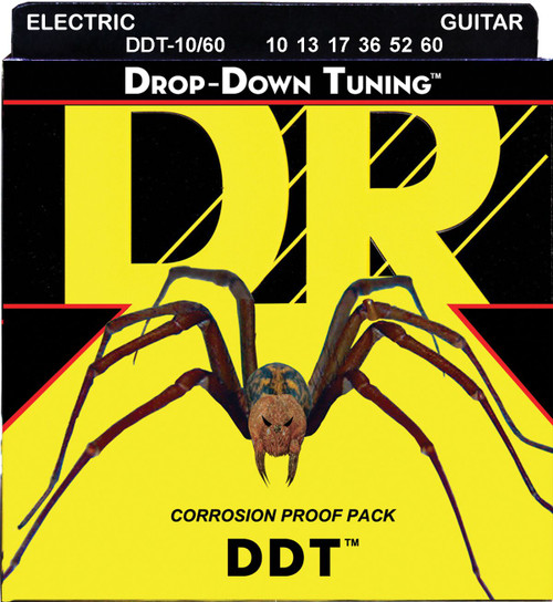 DR DDT Drop Down Tuning Electric Guitar Strings; 10-60