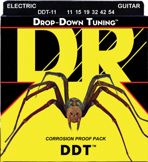 DR DDT Drop Down Tuning Electric Guitar Strings; 11-54