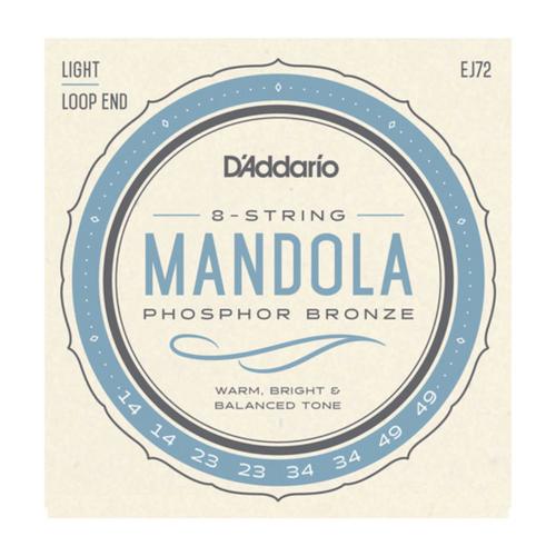 D'Addario Phosphor Bronze Mandola Strings; 14-49 loop end