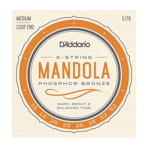 D'Addario Phosphor Bronze Mandola Strings; 15-52 loop end